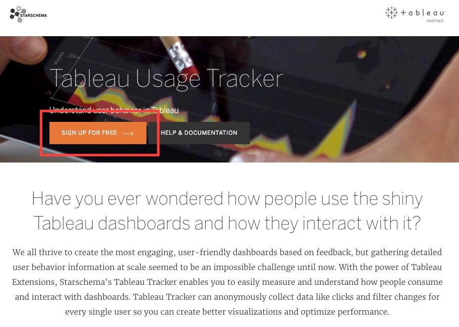 Help - Tableau Usage Tracker by Starschema - Tableau Desktop
